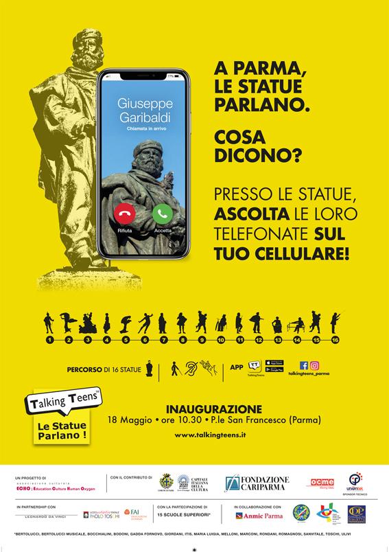 """A Parma """"Talking Teens"""" - Le Statue Parlano!  Ascolta cosa ti dicono"""