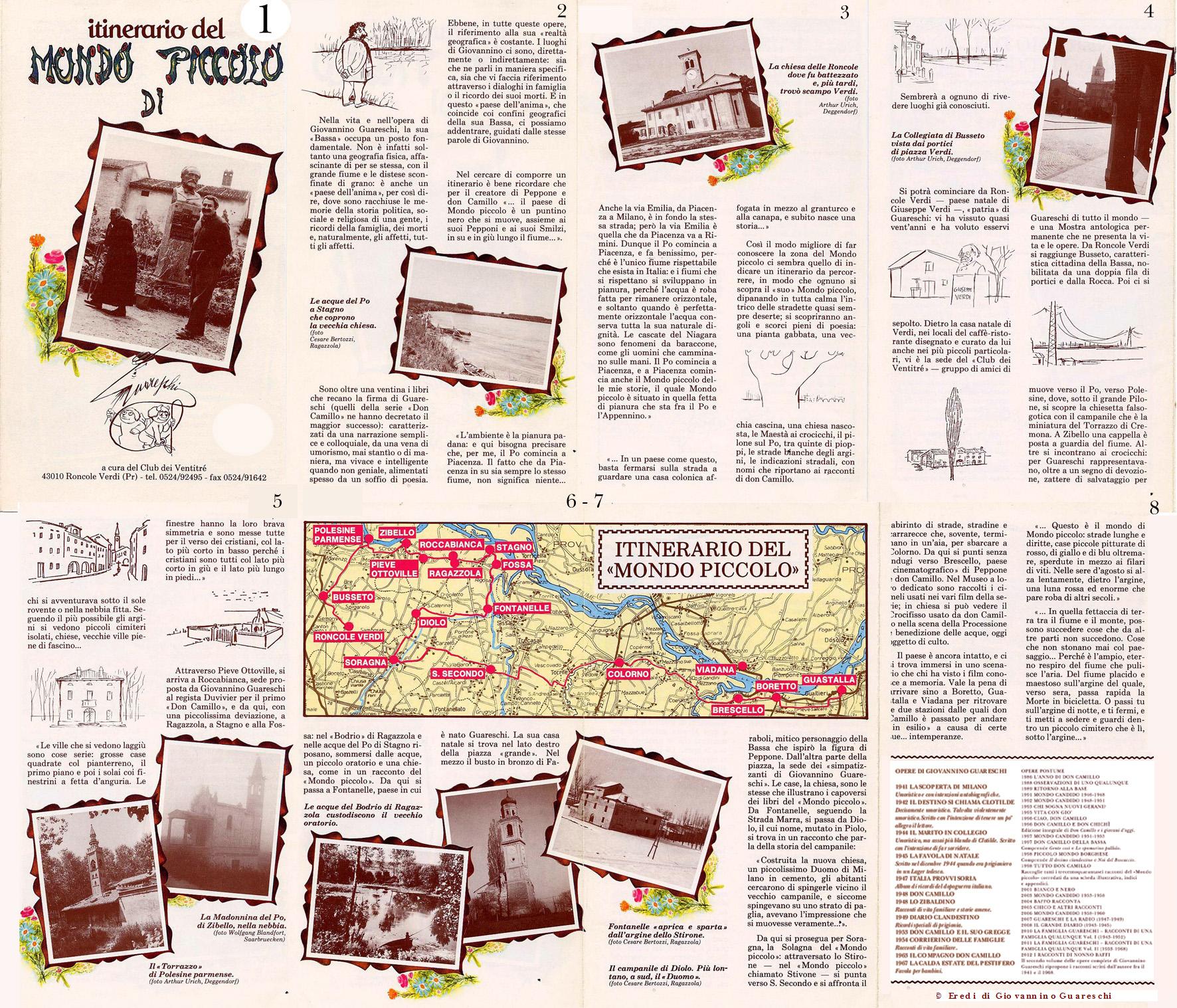 """I luoghi Guareschiani, itinerario del """"Mondo Piccolo"""""""