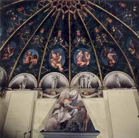 Parma - Camera di San Paolo, affrescata dal Correggio