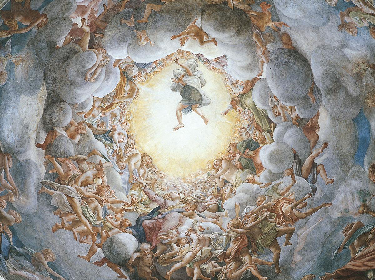 Parma - IL DUOMO, la cupola del CORREGGIO