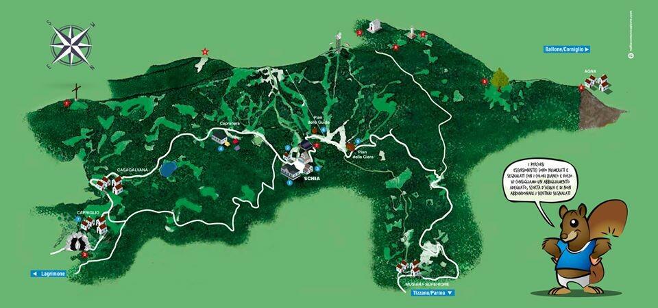 CARTA ESCURSIONISTICA di Schia Monte Caio