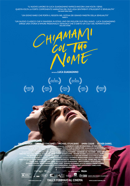 "Al Cinema D'Azeglio ""The Original Ones"":  CALL ME BY YOUR NAME  (Chiamami con il tuo nome))  di Luca Guadagnino"