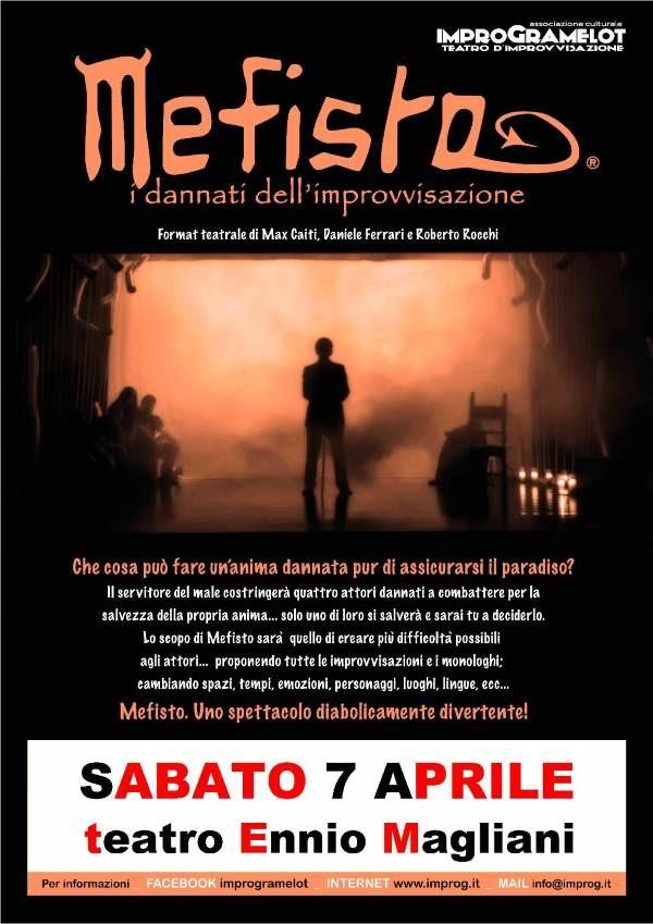 """Al  teatro Ennio Magliani di Corcagnano """"Mephisto"""", i condannati dell'improvvisazione"""