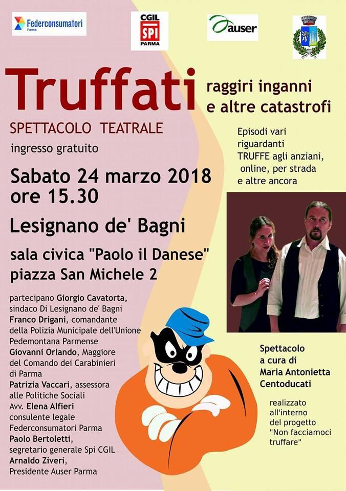Truffati, spettacolo teatrale a Lesignano de' Bagni