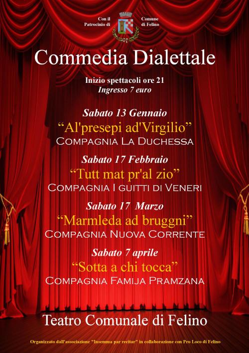 """Stagione dialettale al Teatro Comunale di Felino: la  Compagnia Famija Pramzana con  """"Sotta a chi tocca"""""""