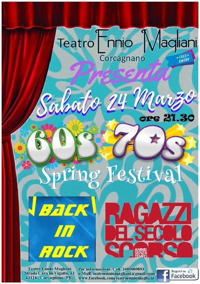 """Al teatro Ennio Magliani di Corcagnano """" 60s 70s Spring Festival"""""""