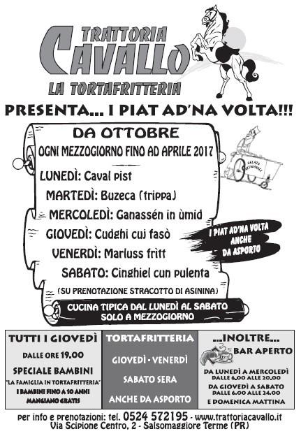 """""""I PIAT AD'NA VOLTA"""" alla Trattoria Cavallo"""