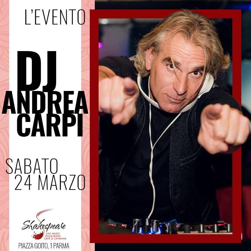"""Allo Shakespeare Live Restaurant Cafe  """"il fantastico DJ Andrea Carpi!"""""""