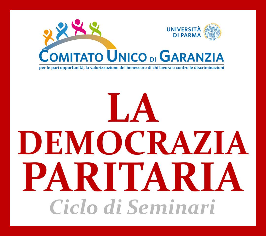 Seminari sulla democrazia paritaria organizzati dal CUG dell'Università di Parma