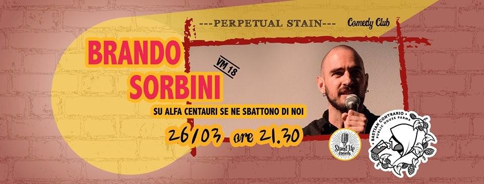 Brando Sorbini - Stand Up Comedy al Bastian Contrario Beer Pub