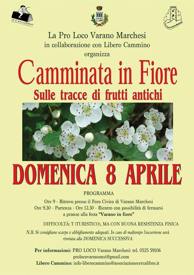 A Varano Marchesi Camminata in fiore -Sulle tracce di frutti antichi