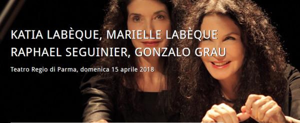 Katia Labèque, Marielle Labèque, Raphael Seguinier: STAGIONE CONCERTISTICA del Teatro Regio di Parma