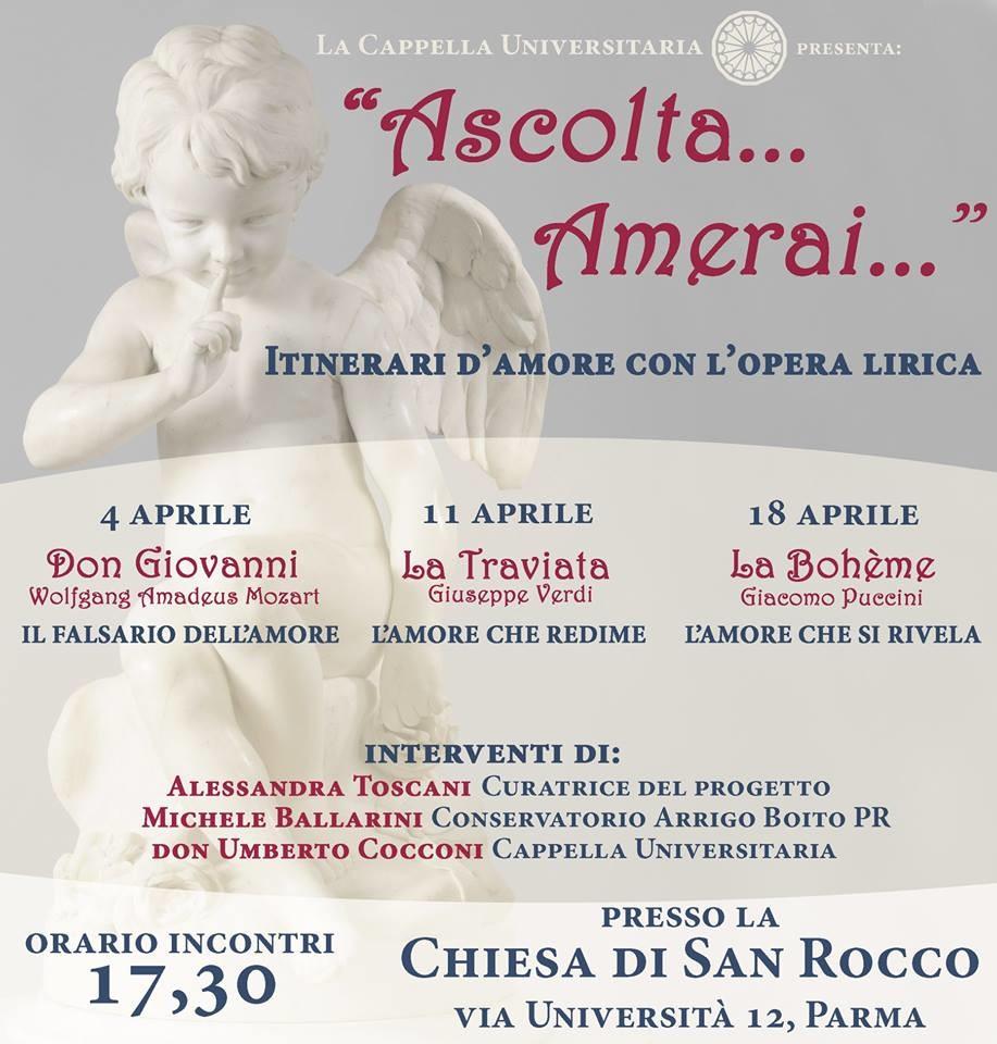 Ascolta Amerai - Itinerari d'amore con l'opera lirica