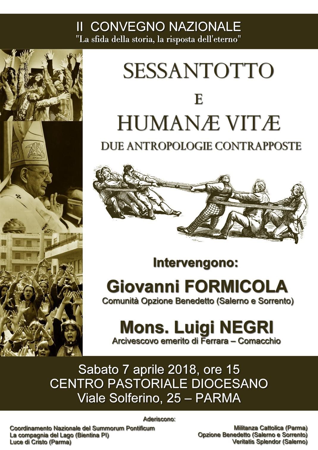 Sessantotto e Humanae Vitae, due antropologie contapposte