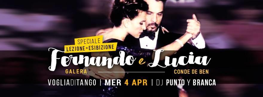 Voglia di tango:Stage/Milonga/Show Fernando Galera/Lucia Conde Tdj PuntoyBranca