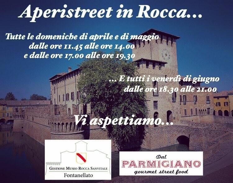 """Aperistreet d'Arte in Rocca a Fontanellato, aperitivo """"rinforzato"""" e visita alla preziosa Saletta di Diana e Atteone affrescata da Il Parmigianino"""