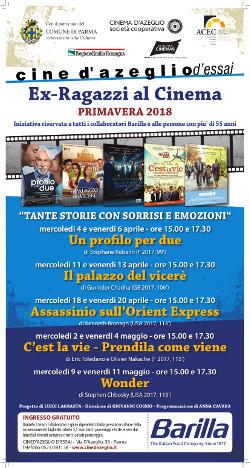 Ex Ragazzi al cinema:  programma