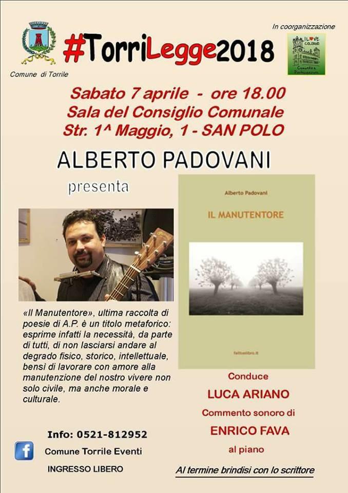TorriLegge 2018: incontro con Alberto Padovani