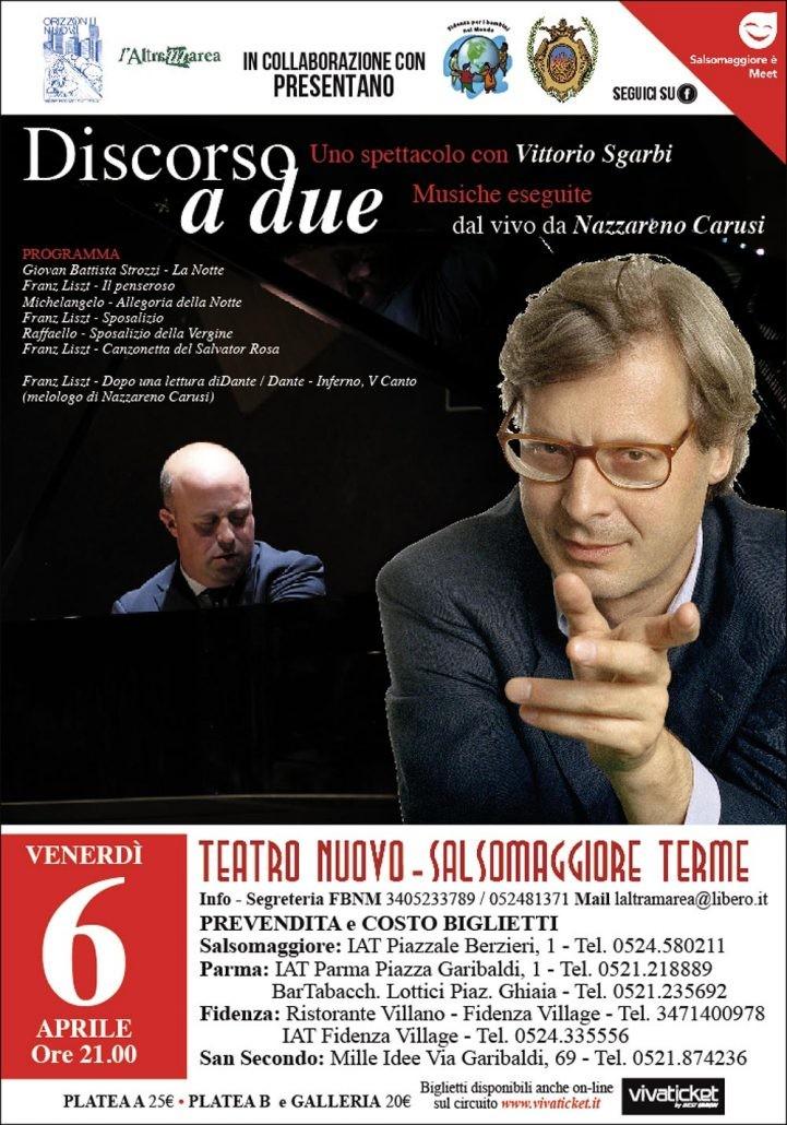 """""""Discorso a due"""" Con Vittorio Sgarbi e Nazareno Carusi al Teatro Nuovo di Salsomaggiore"""