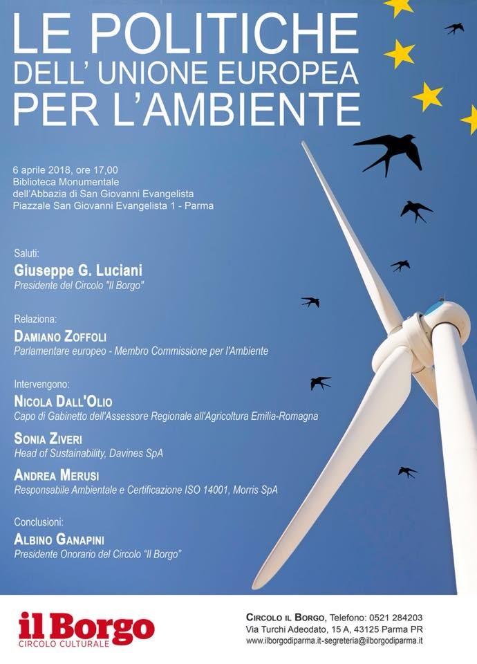 Le politiche dell'Unione Europea per l'ambiente. Se ne parla nella Biblioteca di San Giovanni