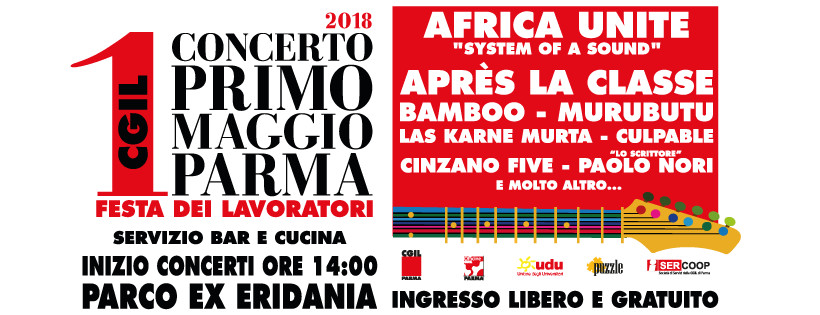 Concerto del 1° maggio a Parma nel parco ex Eridania