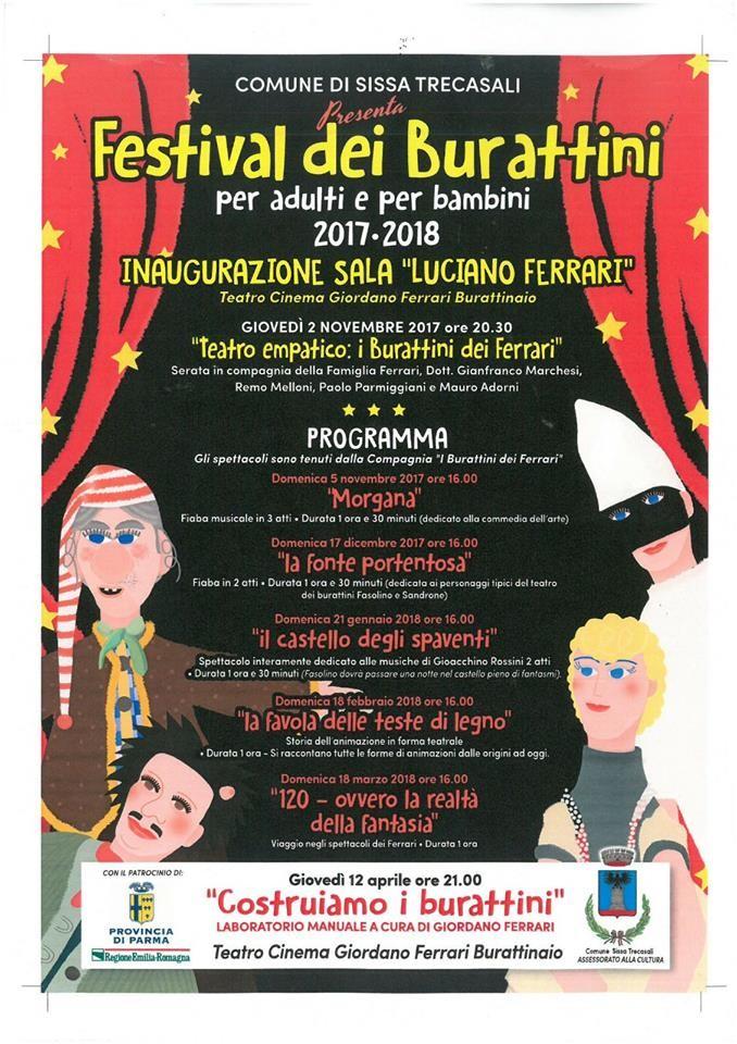 Festival dei burattini Spettacoli ad ingresso GRATUITO per adulti e bambini.
