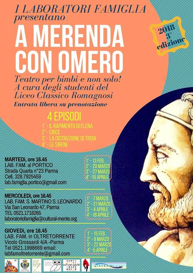 A MERENDA CON OMERO Teatro per bimbi e non solo! A cura degli studenti del Liceo Classico Romagnosi