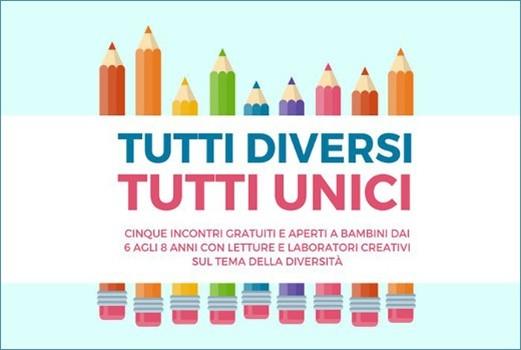 Tutti diversi, tutti unici: letture e laboratori creativi sul tema della diversità