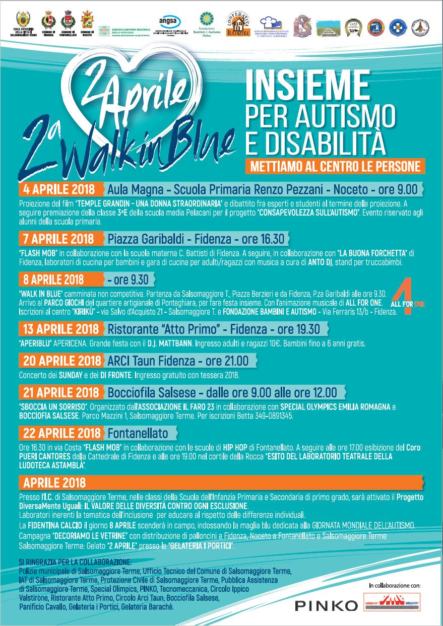 2 aprile, giornata mondiale della consapevolezza dell'autismo, programma eventi nel mese di aprile