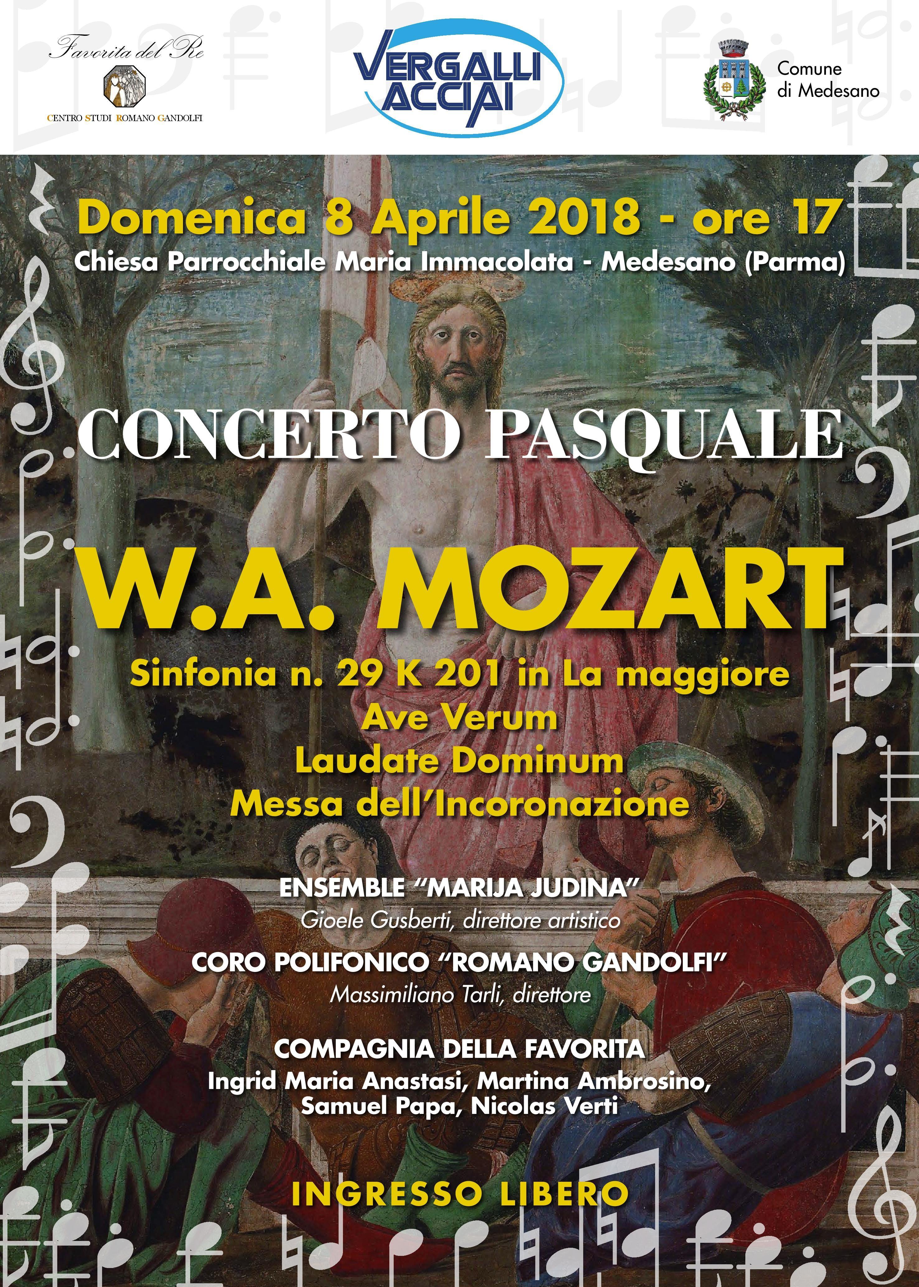 CONCERTO PASQUALEW. A. Mozart nella Chiesa parrocchiale di Medesano
