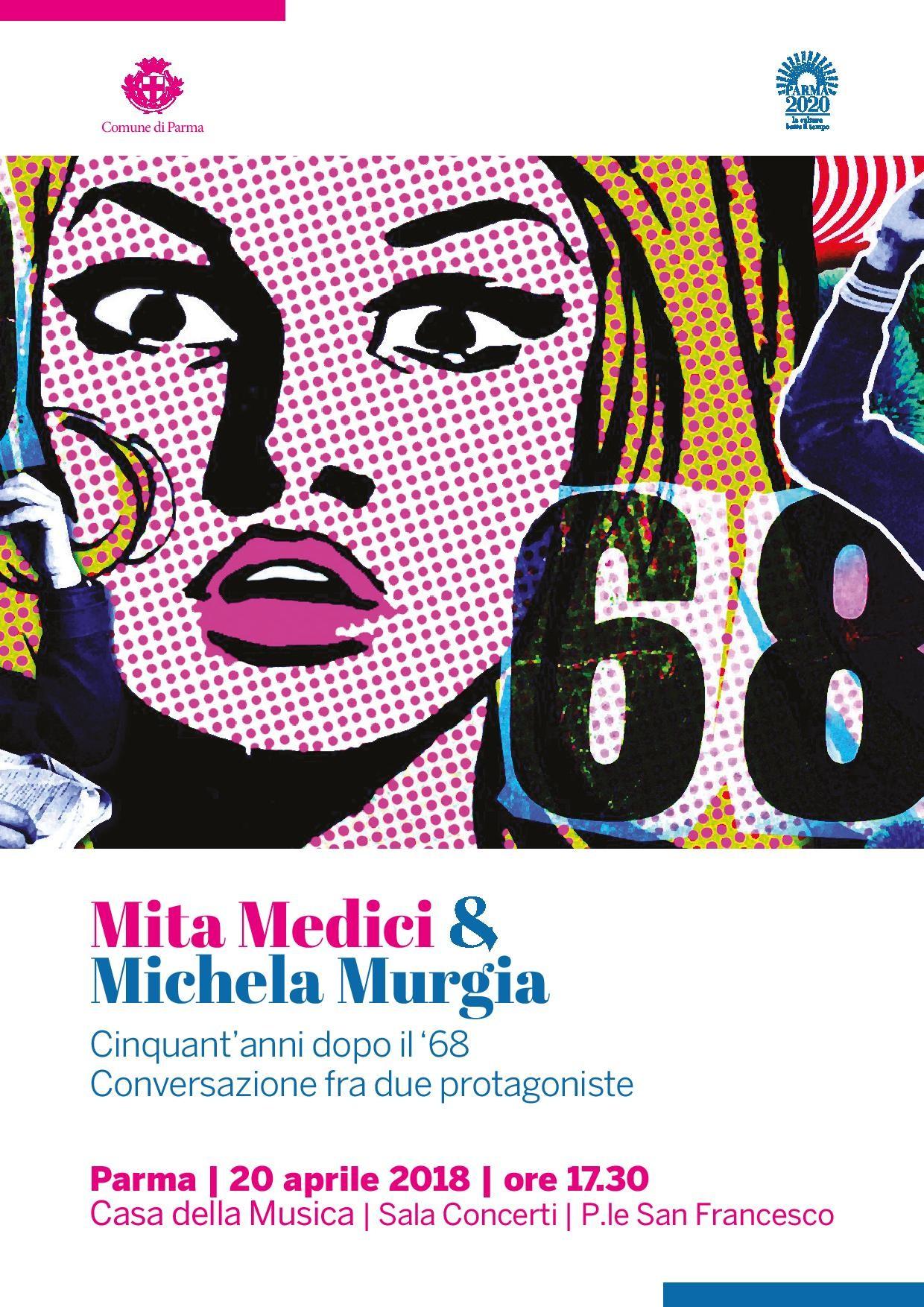 Conversazione fra Mita Medici e Michela Murgia, momento di riflessione sul '68 e su come è cambiata la vita delle donne