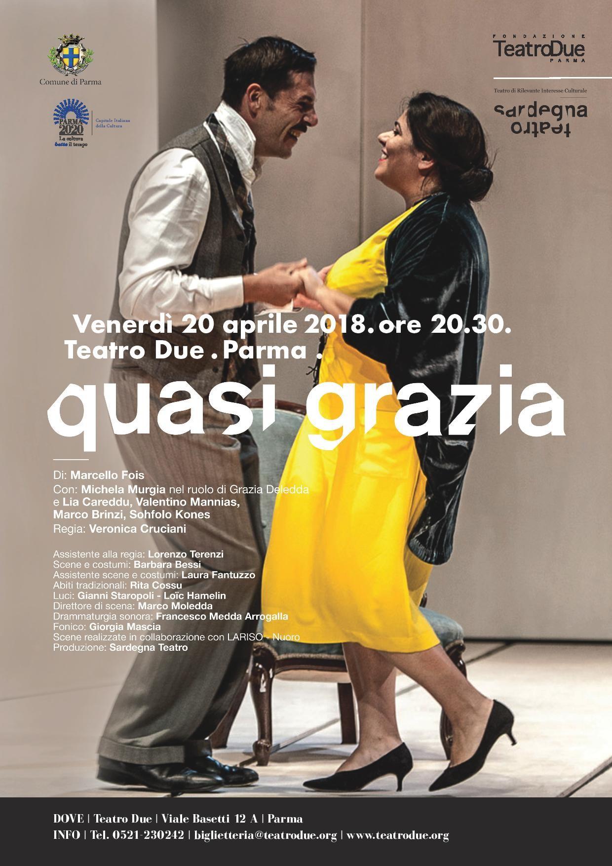 """""""Quasi grazia"""" di Marcello Fois con Michela Murgia in scena al Teatro Due"""