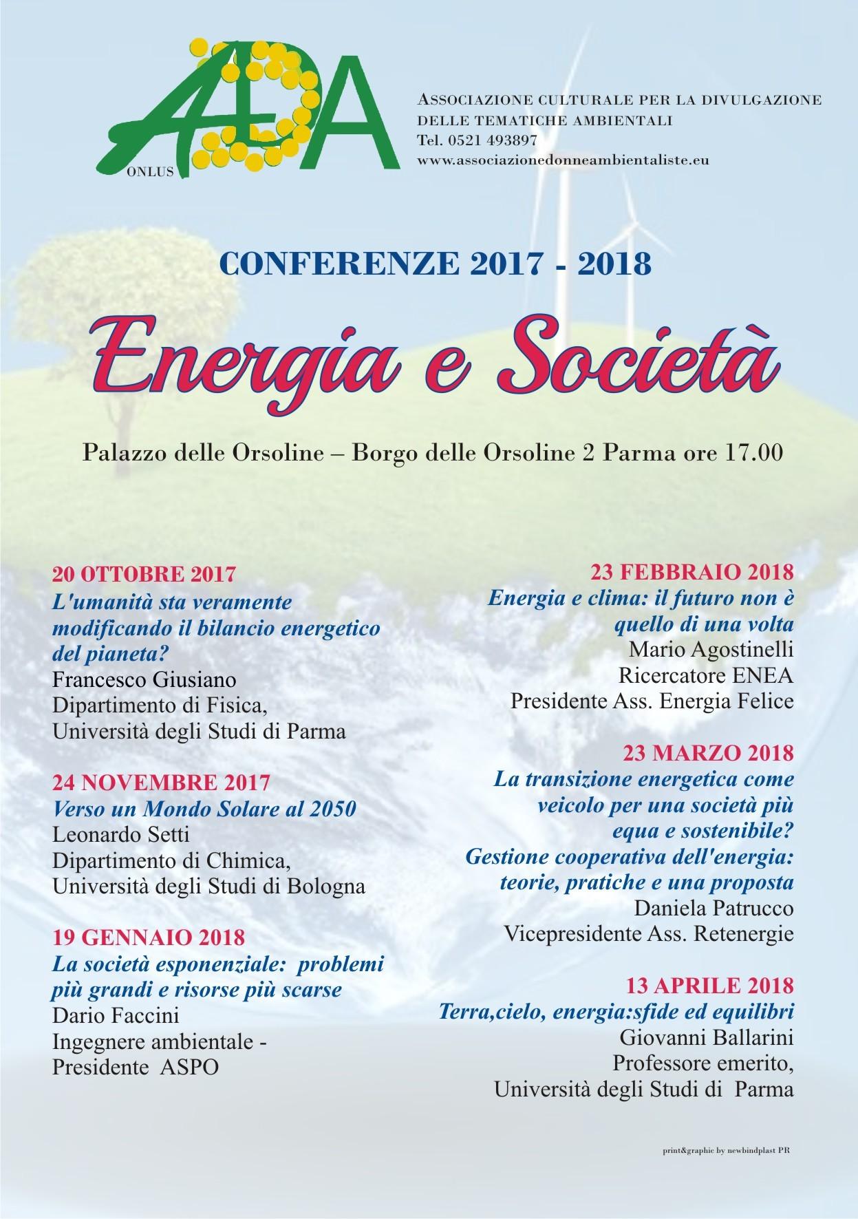 """Energia e società:  incontro con Giovanni Ballarini sul tema """"Terra, cielo, energia: sfide ed equilibri"""""""