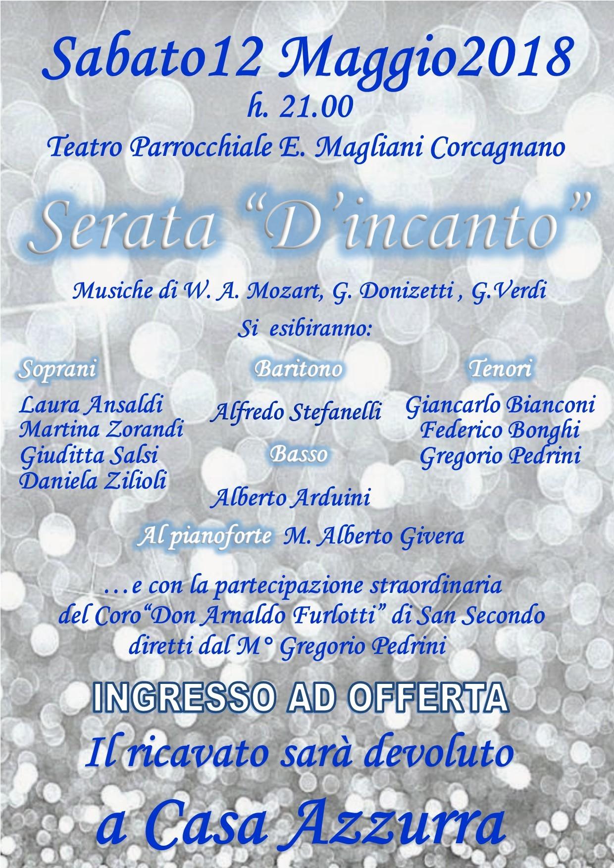 Serata d'incanto al teatro Ennio Magliani