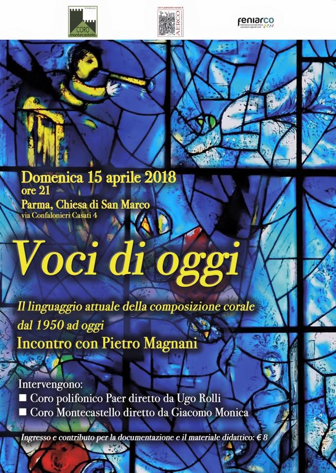 Voci di oggi Il linguaggio attuale della composizione corale dal 1950 ad oggi Incontro con Pietro MagnanI