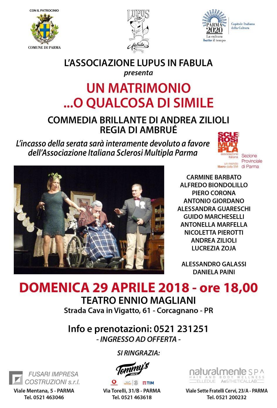 """""""Un Matrimonio ... o qualcosa di simile"""" al teatro Ennio Magliani"""