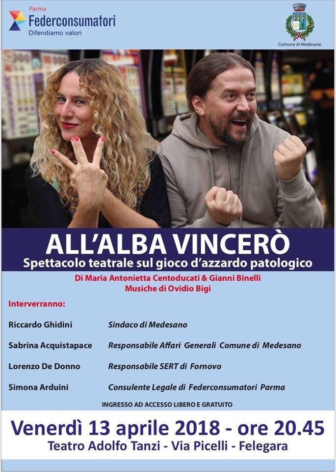 """Al Teatro """"Adolfo Tanzi"""" """"ALL'ALBA VINCERÒ"""