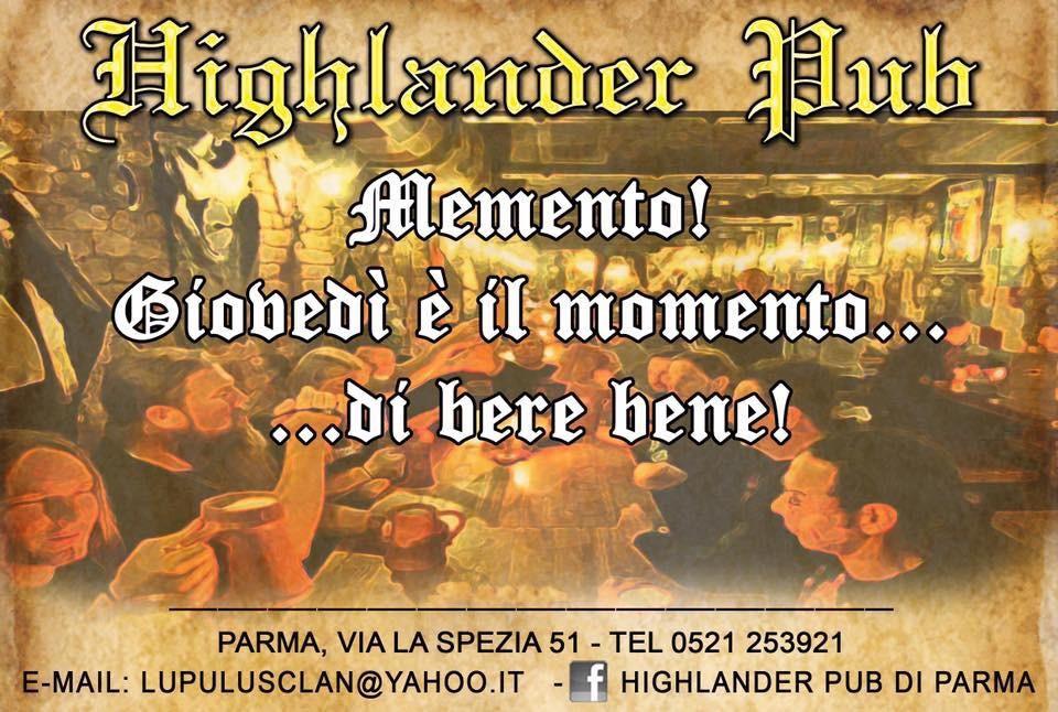 Memento - Giovedì all'Highlander Pub