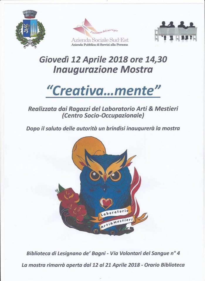 Creativa...mente, mostra in biblioteca a Lesignano