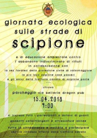 Giornata ecologica sulle strade di Scipione