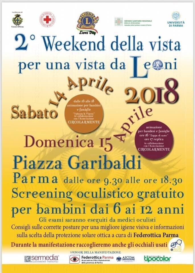 2° week-end della vista  per una vista da Leoni a Parma