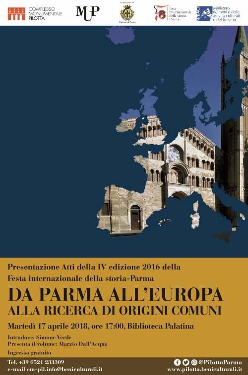 Presentazione Atti Festa della Storia-Parma 2'016.