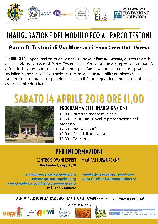 """Inaugurazione parco Mordacci""""."""