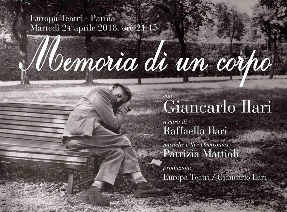"""""""Memoria di un corpo"""" con Giancarlo Ilari ad Europa teatri"""