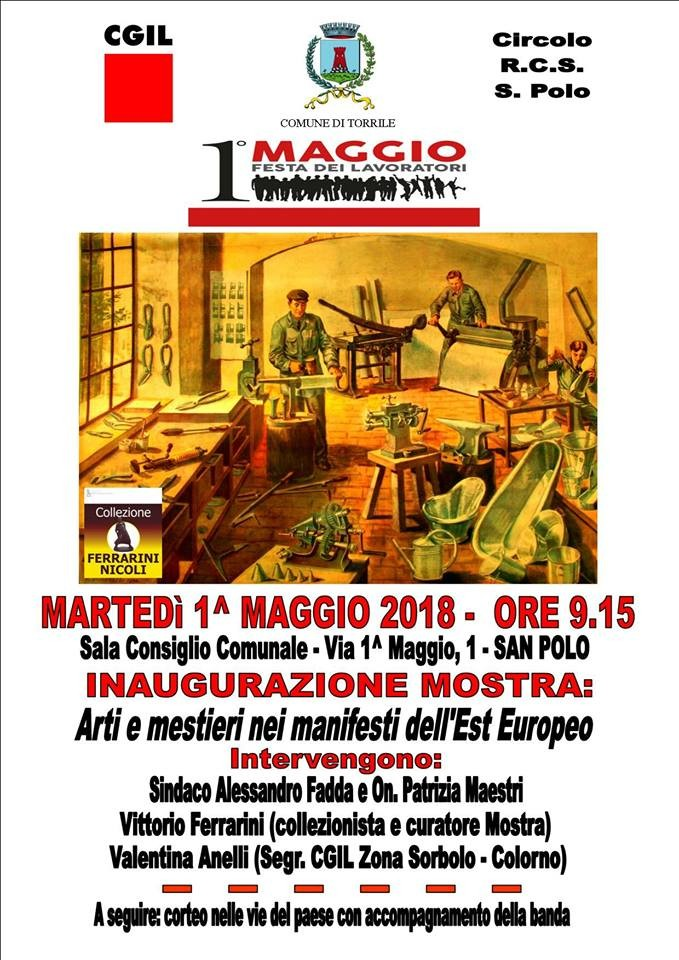 Arti e mestieri nei manifesti dell'Est Europeo in mostra a San Polo di Torrile