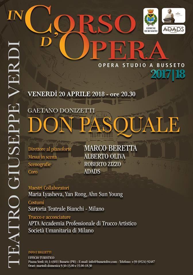 """A """"In Corso d'Opera"""" Don Pasquale"""