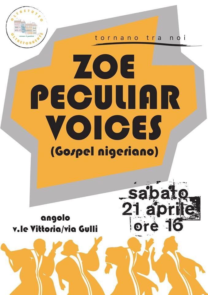 il coro Zoe Peculiar Voices in Oltretorrente
