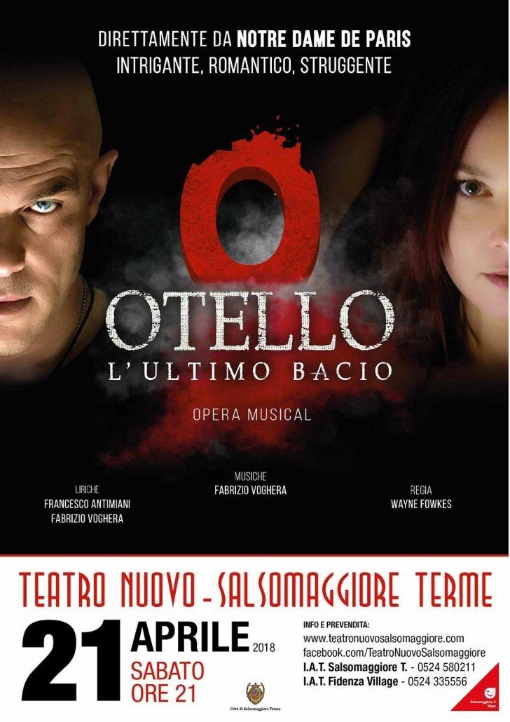 """""""Otello-L'ultimo bacio"""" a Salsomaggiore per l'unica data emiliana"""