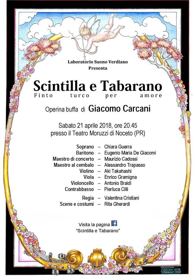 Scintilla e Tabarano, operina buffa di Giacomo Carcani in scena al Teatro Moruzzi