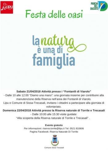 La natura è una di famiglia:  Festa delle Oasi LIPU alla Riserva naturale Torrile e Trecasali